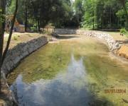 reparacion de daños en las margenes del Rio Louro